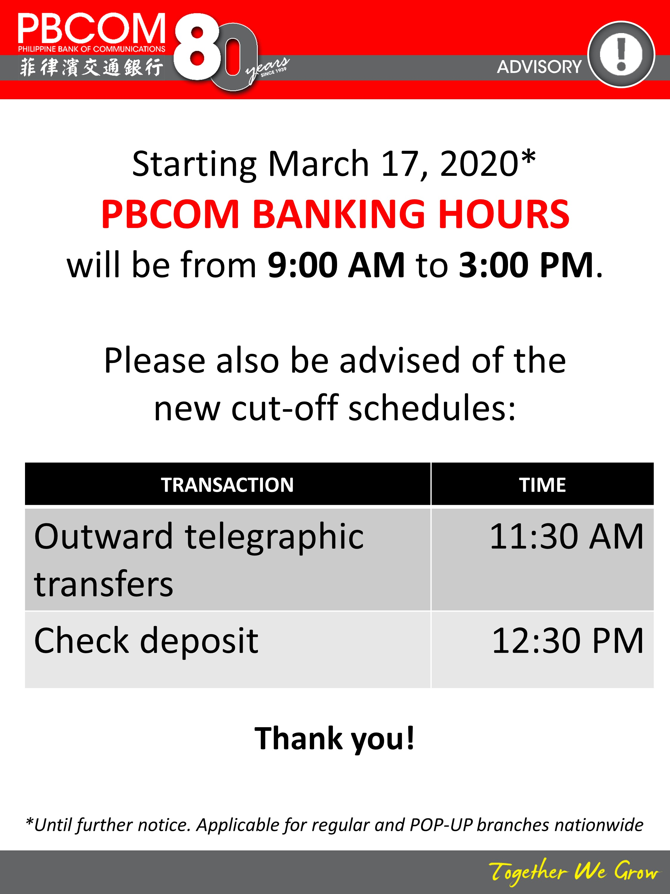 banking hours covid